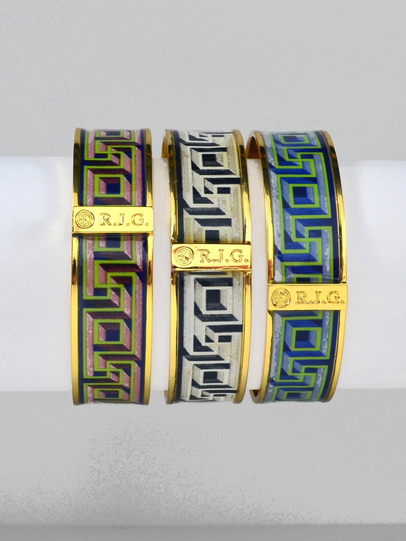 emaciti color and gold enamel design bangles product img