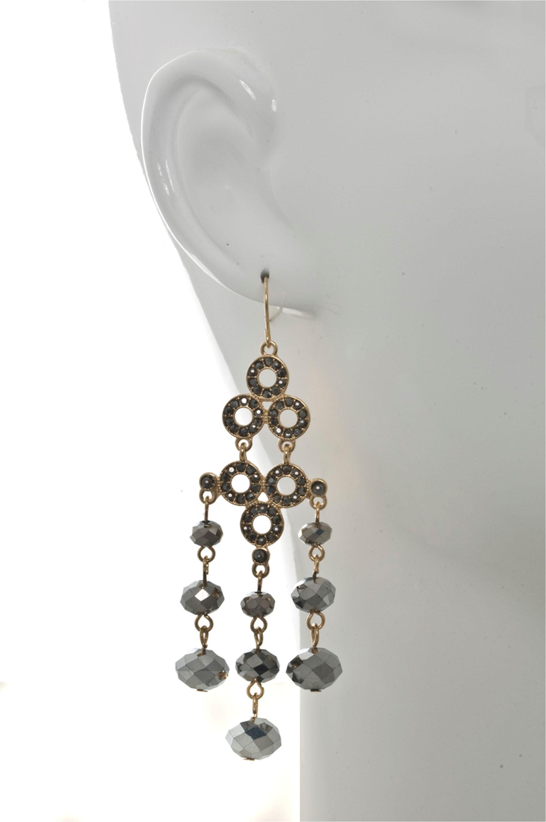 beaded chandelier earring