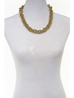 mesh link necklace