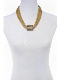 mesh barrel roll necklace