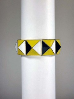 Thick Enamel Stretch Bracelet