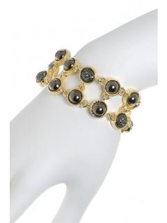 two row stone link bracelet