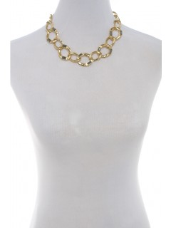 Baguette chain link necklace