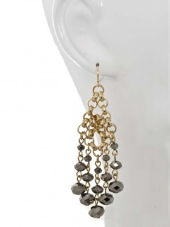 Beaded Mesh Chandelier Earring