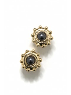 circle stud clip earring