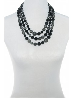 Nested threee row beaded neklace-A/S