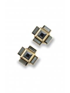 extended square stud earring