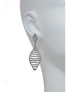 pave chandelier earring