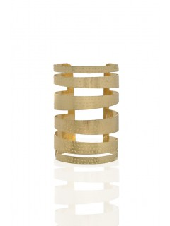 Gold Plated Hammered Metal Cuff