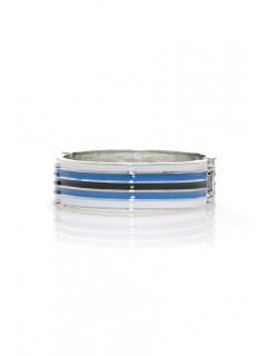 Striped enamel Hinge Cuff