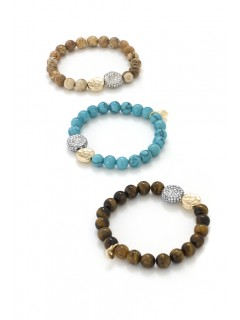 Pave Disc Stretch Bracelet
