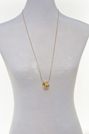 5 ring necklace-gold