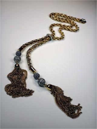 metal tassel necklace