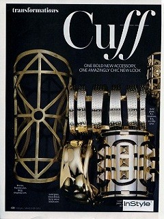 Gold Plated Hammered Metal Cuff-press